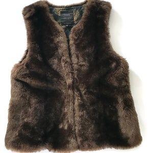 Sanctuary Clothing Faux Fur Vest Anthropologie S